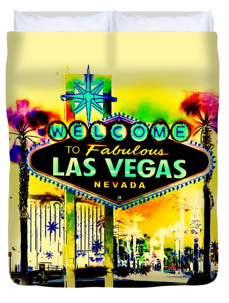 Vegas Weekends Duvet Cover