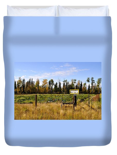 Duvet Cover featuring the photograph Vegetables For Sale by Cathy Mahnke