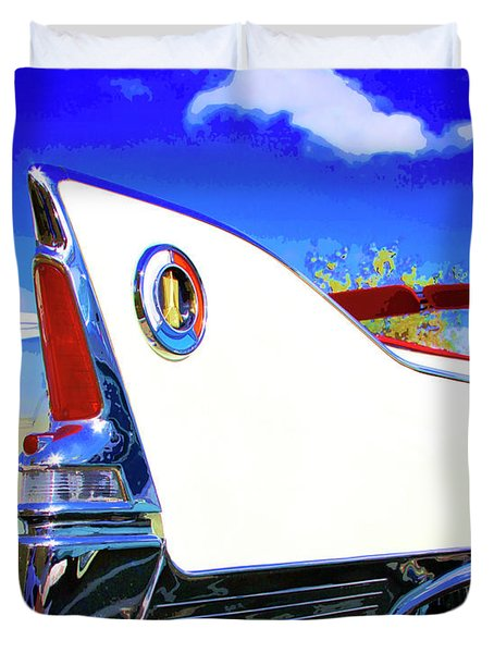 Vehicle Launch Palm Springs Duvet Cover by William Dey