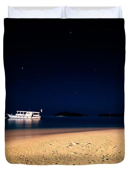Velvet Night On The Island Duvet Cover by Jenny Rainbow