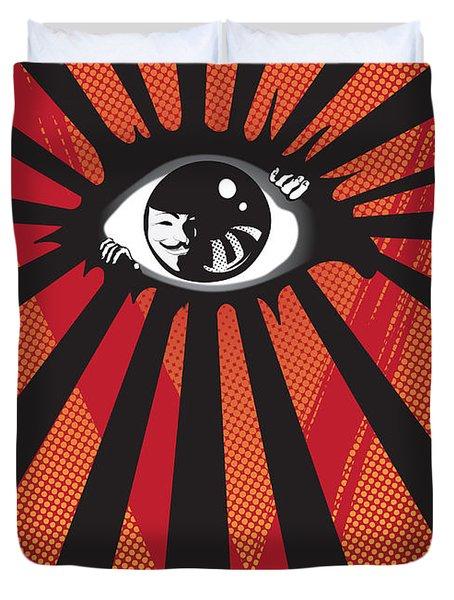 Vendetta2 Eyeball Duvet Cover by Sassan Filsoof