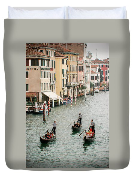 Duvet Cover featuring the photograph Venice by Silvia Bruno
