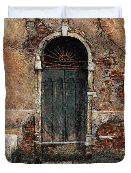 Venetian Door 01 Elena Yakubovich Duvet Cover