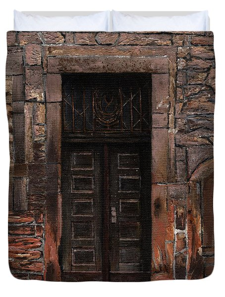Venetian Door 02 Elena Yakubovich Duvet Cover by Elena Yakubovich