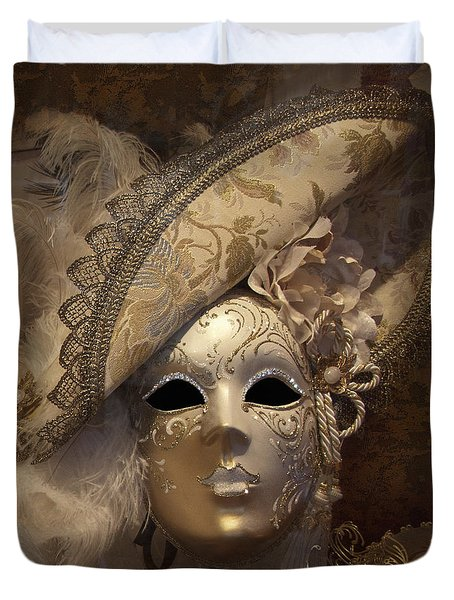 Venetian Face Mask F Duvet Cover by Heiko Koehrer-Wagner
