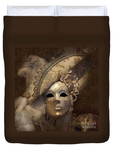 Venetian Face Mask F Duvet Cover