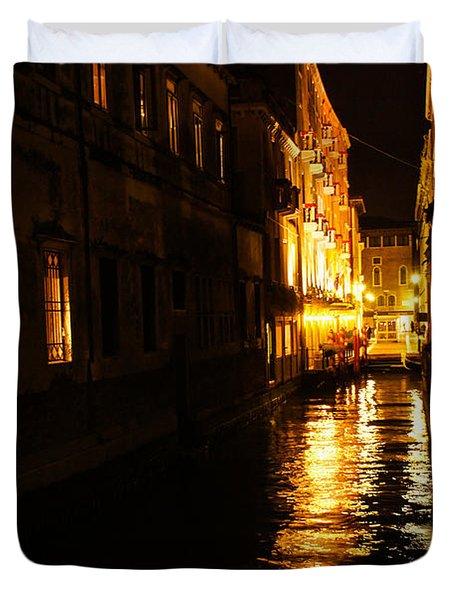 Venetian Golden Glow Duvet Cover