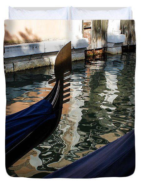 Venetian Gondolas Duvet Cover
