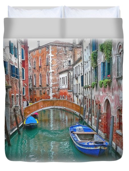 Duvet Cover featuring the photograph Venetian Idyll by Hanny Heim