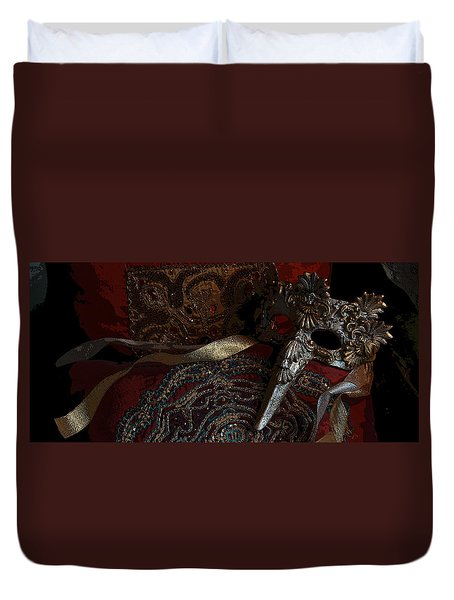 After The Carnival - Venetian Mask Duvet Cover