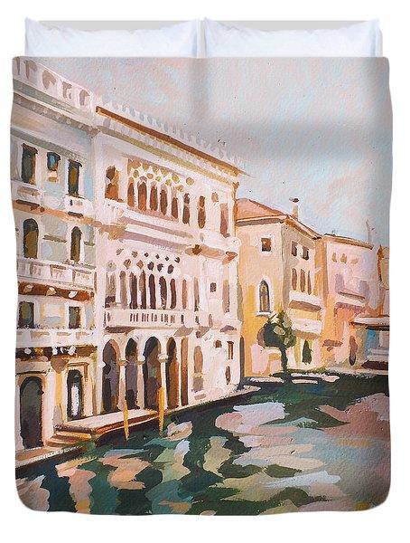 Venetian Palaces Duvet Cover by Filip Mihail