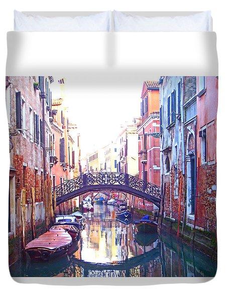 Venetian Reflections Duvet Cover