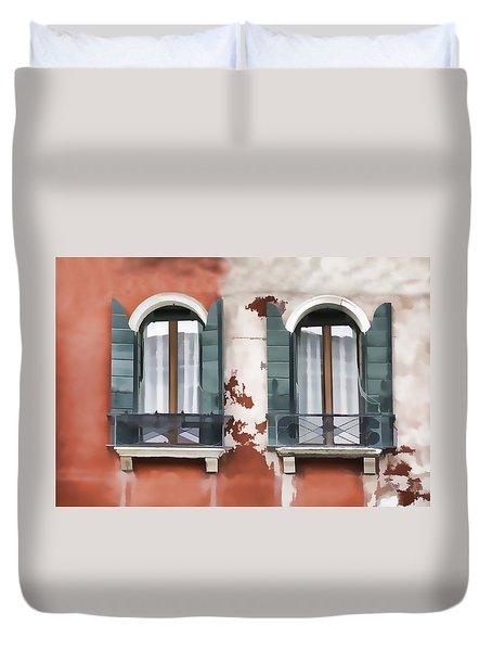 Venetian Window Duvet Cover
