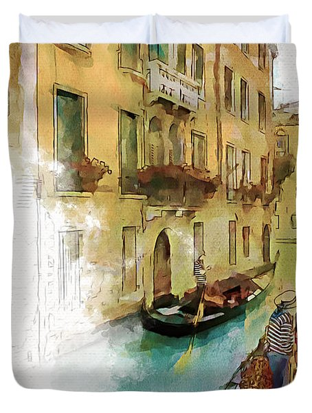 Venice 1 Duvet Cover by Greg Collins