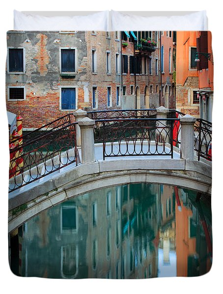 Venice Bridge Duvet Cover by Inge Johnsson