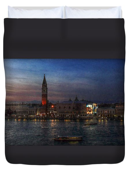Venice By Night Duvet Cover by Hanny Heim