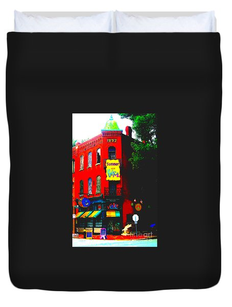 Venice Cafe' Painted And Edited Duvet Cover