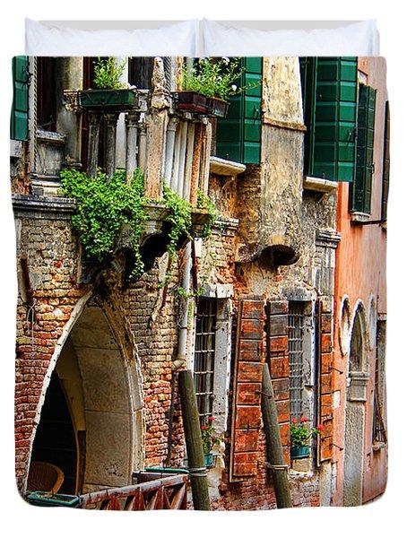 Venice Getaway Duvet Cover by Mariola Bitner