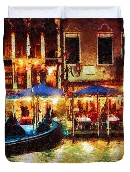 Venice Glow Duvet Cover by Mo T