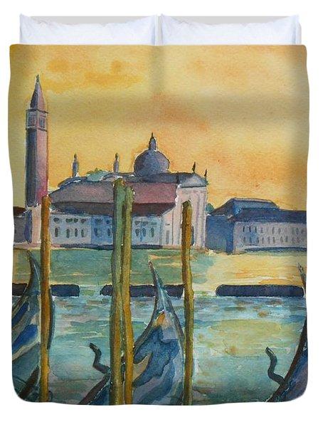 Venice Gondolas Duvet Cover
