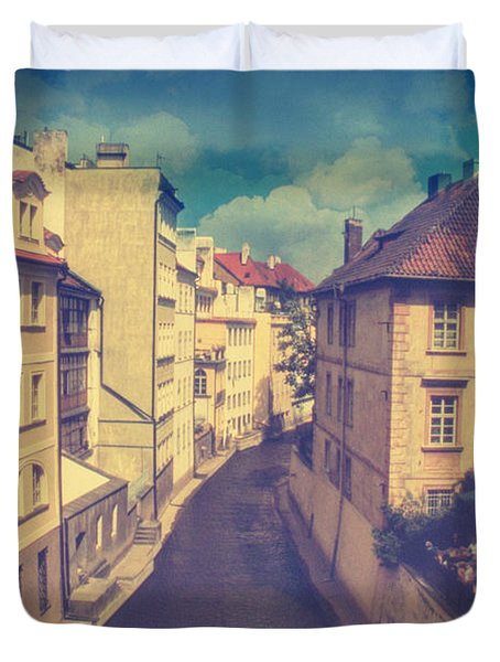 Venice In Prague Duvet Cover by Taylan Apukovska