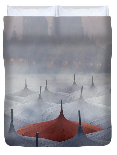 Venice In Rain Duvet Cover by Joana Kruse