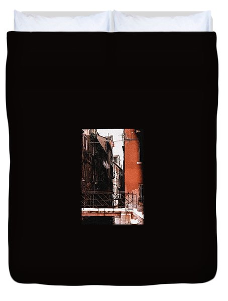 Duvet Cover featuring the photograph A Chapter In Venice by Ira Shander