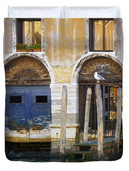 Venice Italy Double Boat Room Duvet Cover