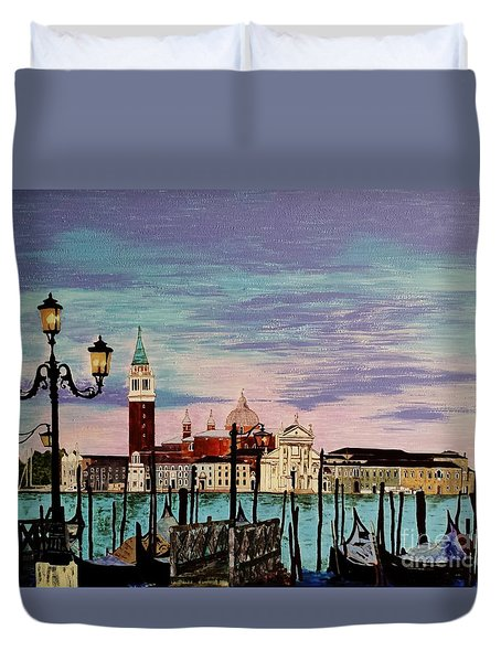 Venice  Italy By Jasna Gopic Duvet Cover