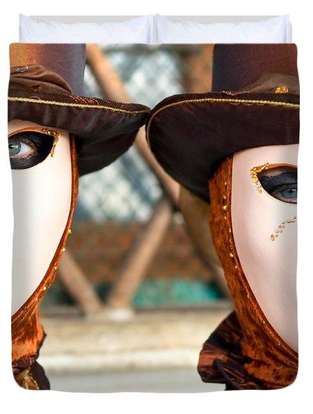 Venice Masks - Carnival. Duvet Cover