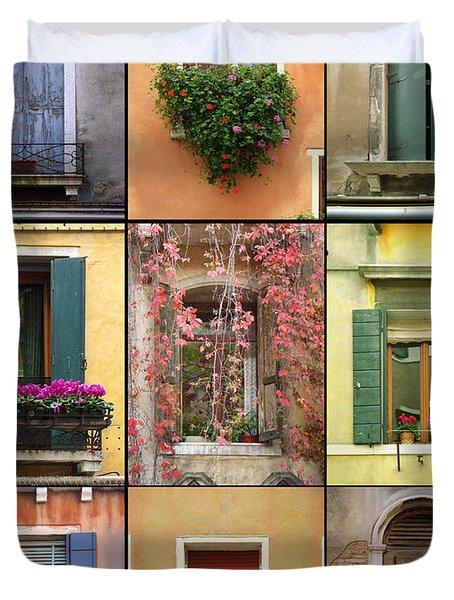Venice Shutters Duvet Cover