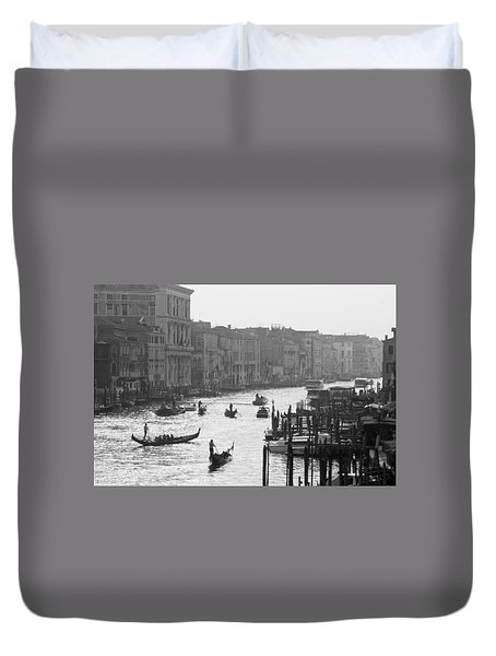 Venice Grand Canal Duvet Cover by Silvia Bruno