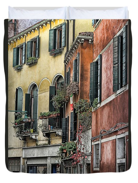 Windows In Venice  Duvet Cover