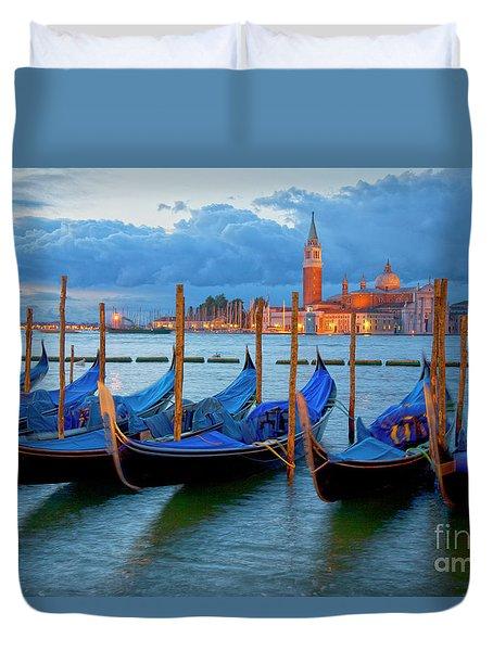 Venice View To San Giorgio Maggiore Duvet Cover