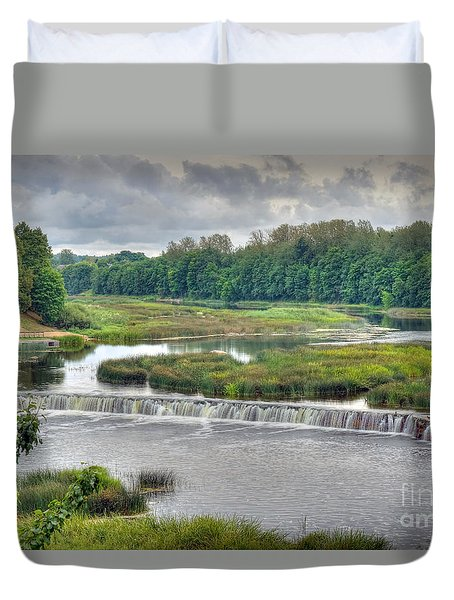 Venta Waterfall Kuldiga Latvia Duvet Cover