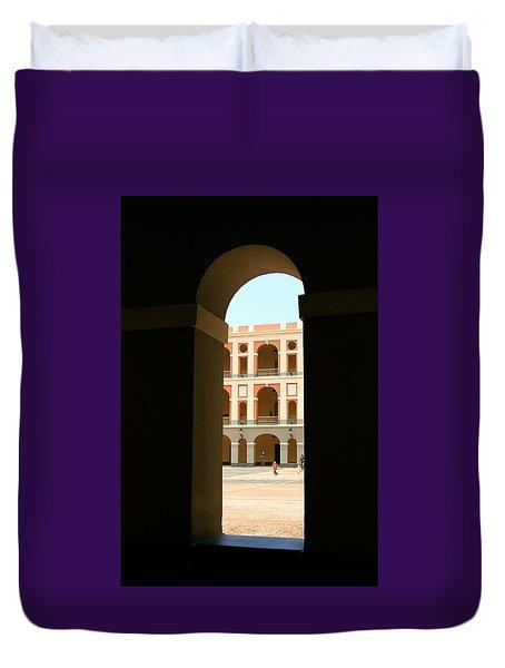 Ventana De Arco Duvet Cover by The Art of Alice Terrill