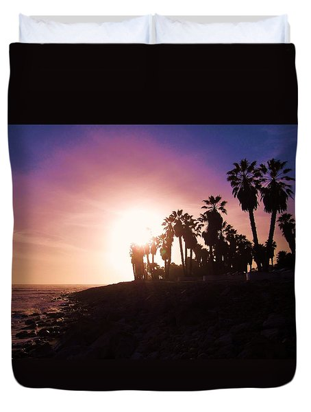 Ventura Beach Sunset Duvet Cover