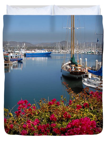 Ventura Harbor Duvet Cover
