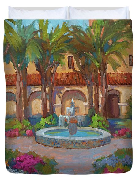 Ventura Mission Duvet Cover by Diane McClary