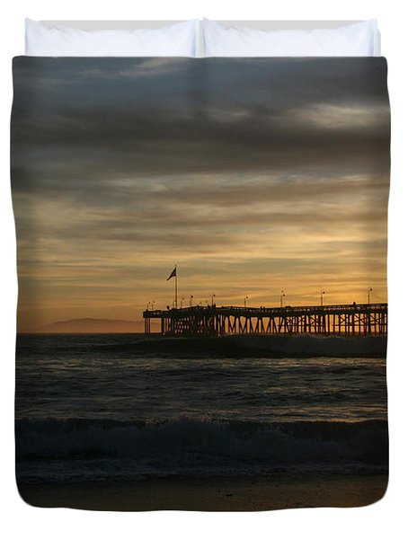 Ventura Pier 01-10-2010 Sunset  Duvet Cover