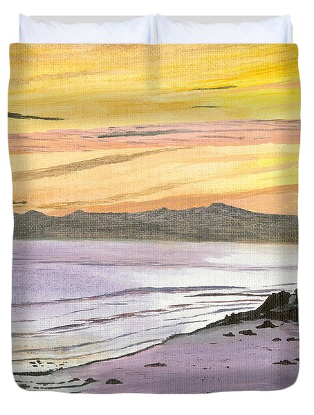 Ventura Point At Sunset Duvet Cover