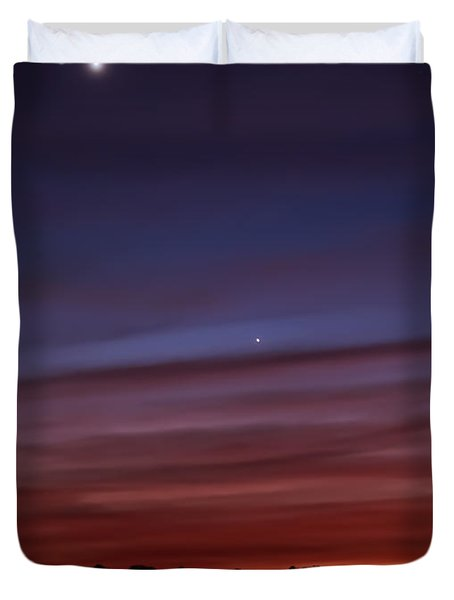 Venus And Mercury Duvet Cover