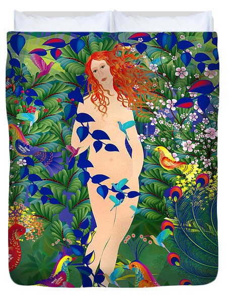 Venus At Exotic Garden Duvet Cover