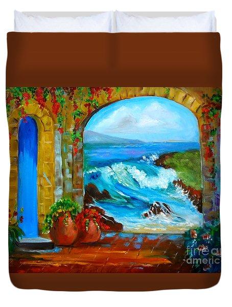 Veranda Ocean View Duvet Cover