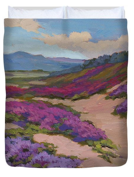 Verbena Harmony In Purple Duvet Cover by Diane McClary