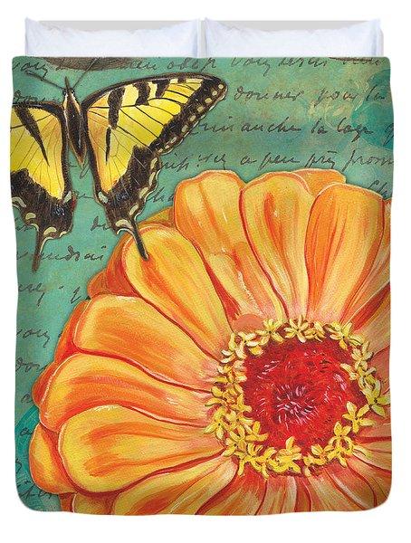 Verdigris Floral 1 Duvet Cover by Debbie DeWitt