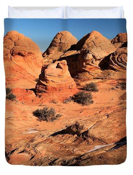 Vermilion Landscape Duvet Cover