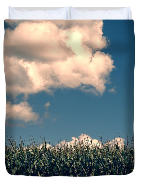 Vermont Cornfield Duvet Cover by Edward Fielding