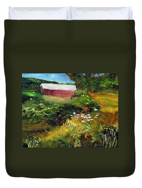 Vermont Covered Bridge Duvet Cover