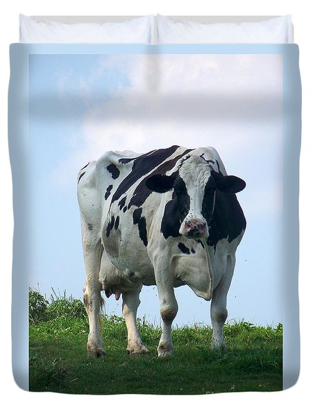 Duvet Cover featuring the photograph Vermont Dairy Cow by Eunice Miller
